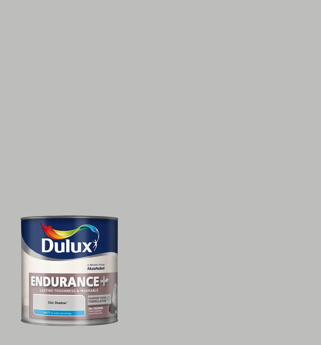 Dulux 2 5 litre endurance matt paint for walls chic shadow