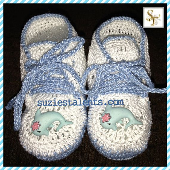 SALE . Baby Boy Shoes Crochet Baby Boy Booties by SuziesTalents, $34.99
