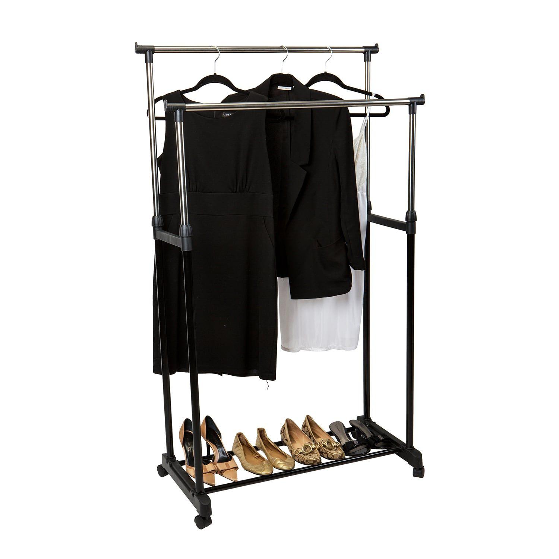 Simplify Double Tier Adjustable Height Rolling Garment Rack Affiliate Tier Ad Adjustable Rolling Garment Rack Garment Racks High Fashion Home