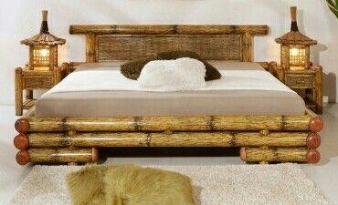 Cama En Bamboo Camas Muebles De Bambú Muebles De Caña
