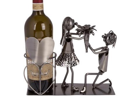 BRUBAKER Weinflaschenhalter Hochzeit Brautpaar Heirat Weingeschenk