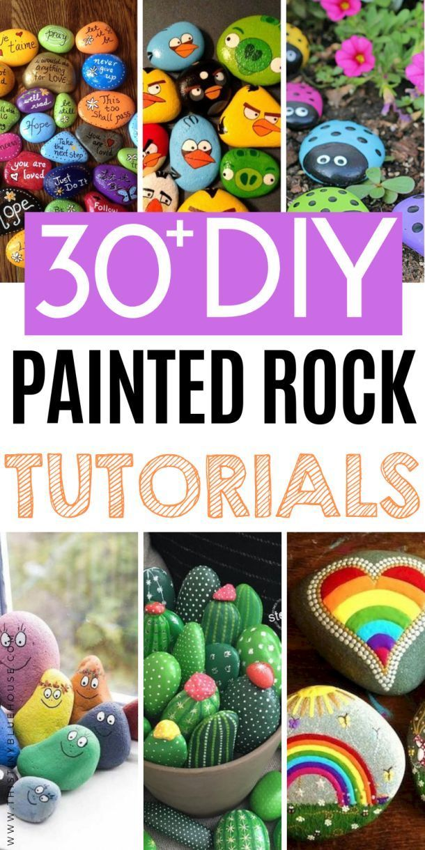 30+ Gorgeous Fun Painted Rock Ideas