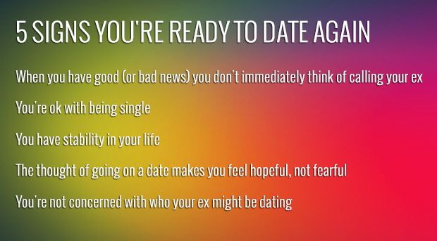 signs youre not ready to date