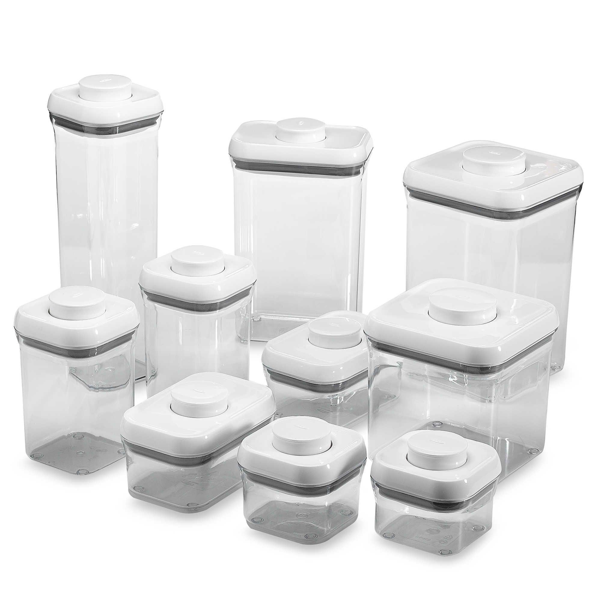 Oxo Good Grips 10 Piece Food Storage Pop Container Set Glass Food Storage Containers Food Storage Food Storage Set