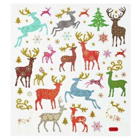 Hobby Design Sticker * Hirsche Rentier Reh Winter * Aufkleber 3452365