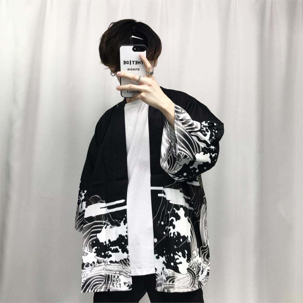 2018 summer mens kimono japanese clothes streetwear casual