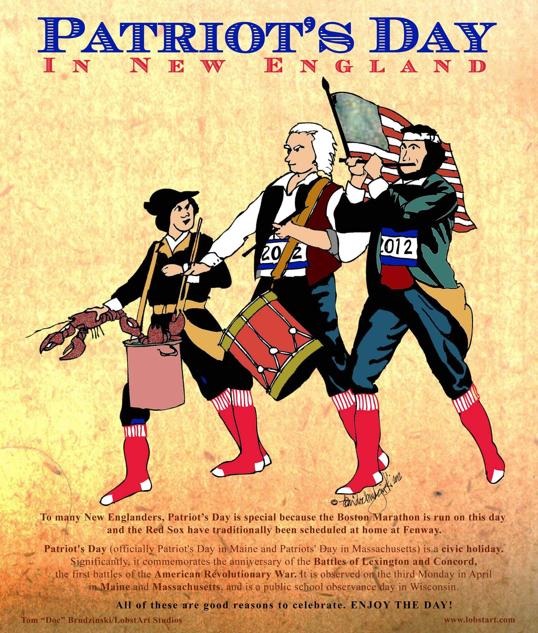 Lobstart Studios Welcome Page Patriots Day Boston Marathon Patriots