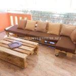 Sofa f&u;r Terrasse mit Paletten
