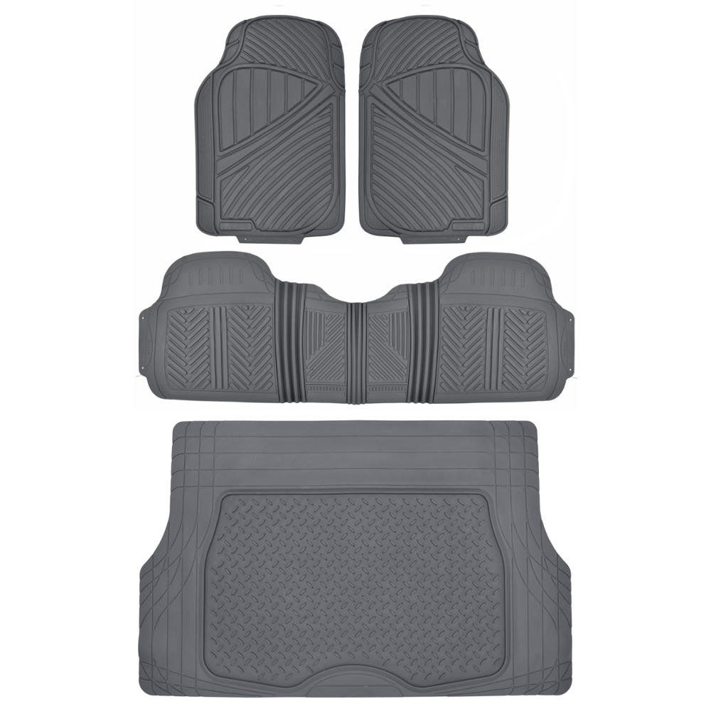 Rubber floor mats nissan rogue - Motortrend Flextough Rubber Floor Mats Cargo Set Gray Heavy Duty Bpa Free Odorless