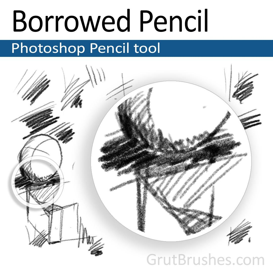 The realistic sketching pencil brush tool for photoshop looks feels and draws just like a real pencil