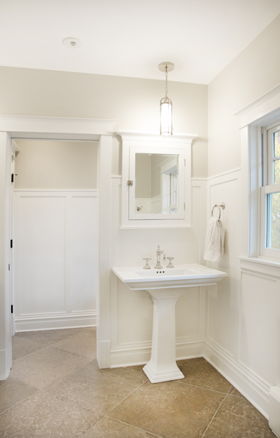Source Scott Lyon Amp Company Bathroom With Oversized Travertine Tile Floor Installed Diagonal