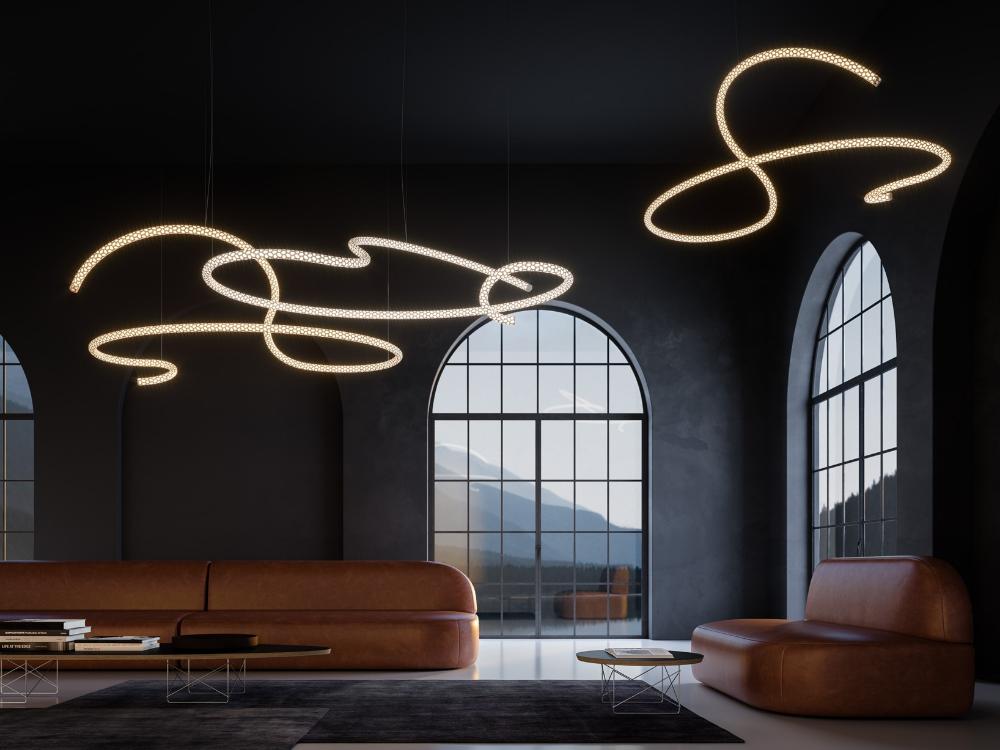 Led Aluminium Pendant Lamp Squiggle H5