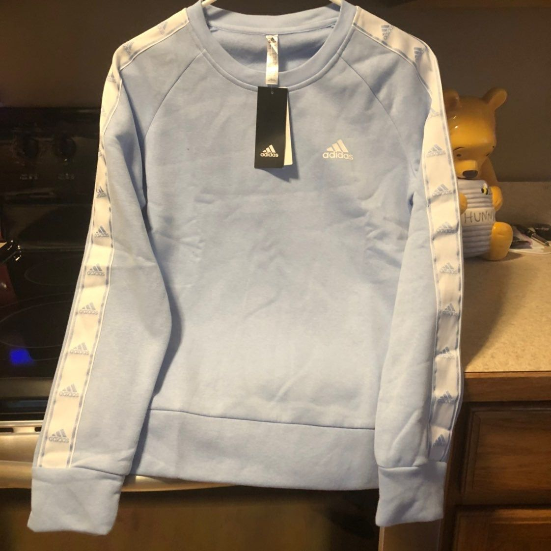 Nwt Women S New Light Blue Adidas Sweatshirt Size Small Adidas Sweatshirt Sweatshirts Blue Adidas [ 1122 x 1122 Pixel ]