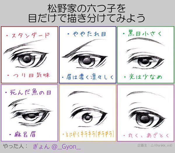 おそ松さん Osomatsu San おしゃれまとめの人気アイデア Pinterest ℜⅈttƴ おそ松さん自分絵 目のデッサン 目を描く