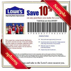 Printable Lowes Coupon 20% Off &10 Off Codes December 2016 | Lowes coupon, Lowes and Coupons