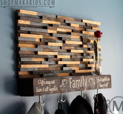 Wood Tile Coat Rack With Shelf | Scrap Wood Projects ...