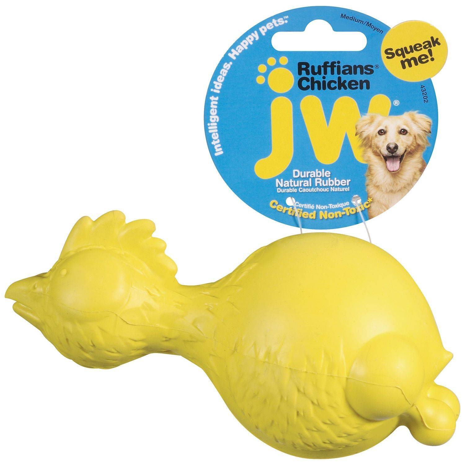 Jw Pet Company Ruffians Chicken Dog Toy Ruffians Chicken Grey