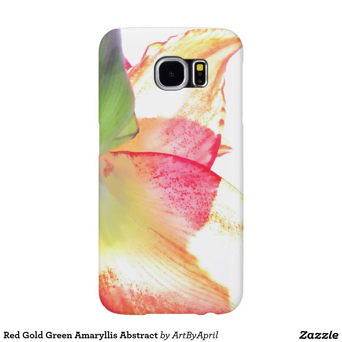 Red Gold Green Amaryllis Abstract Samsung Galaxy S6 Cases