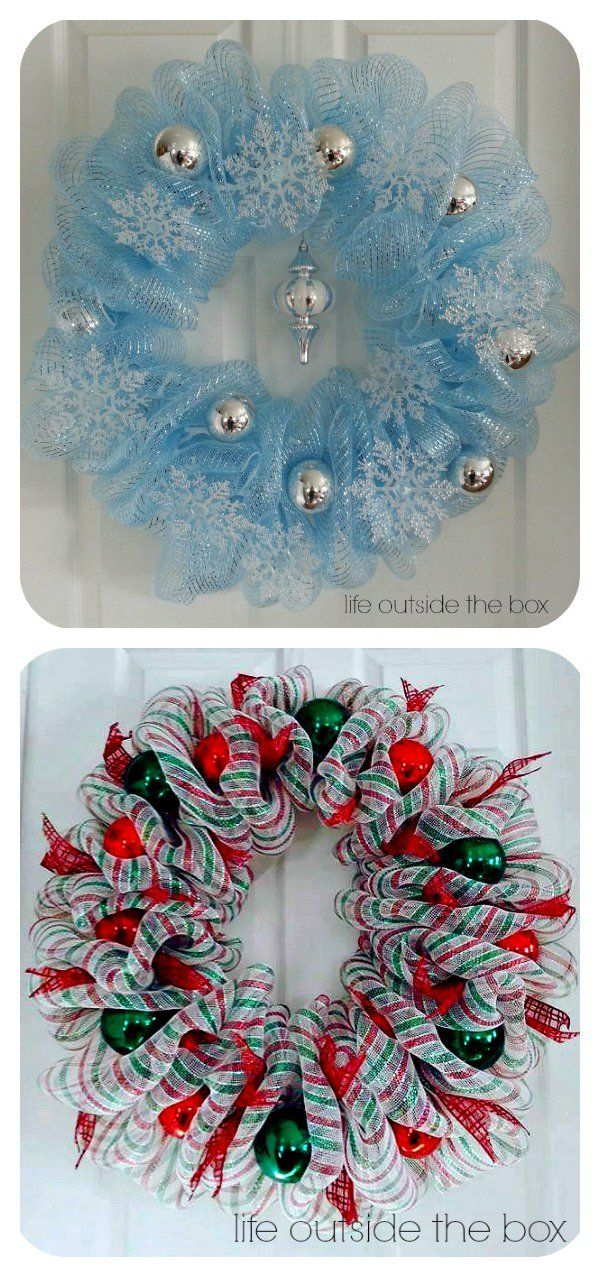 10+ Creative Christmas Deco Mesh Wreath Ideas Christmas deco