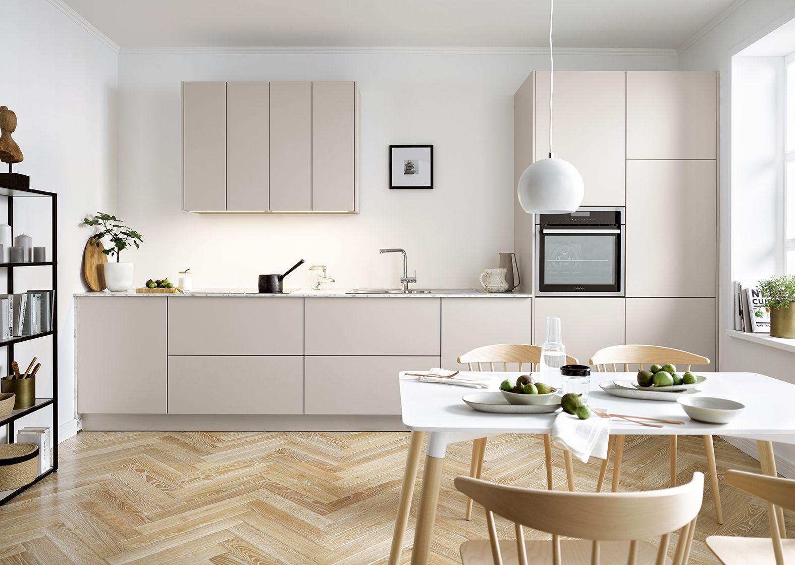 Keukenkast Zonder Greep : Minimalistische keuken zonder greep de lades en deuren zijn