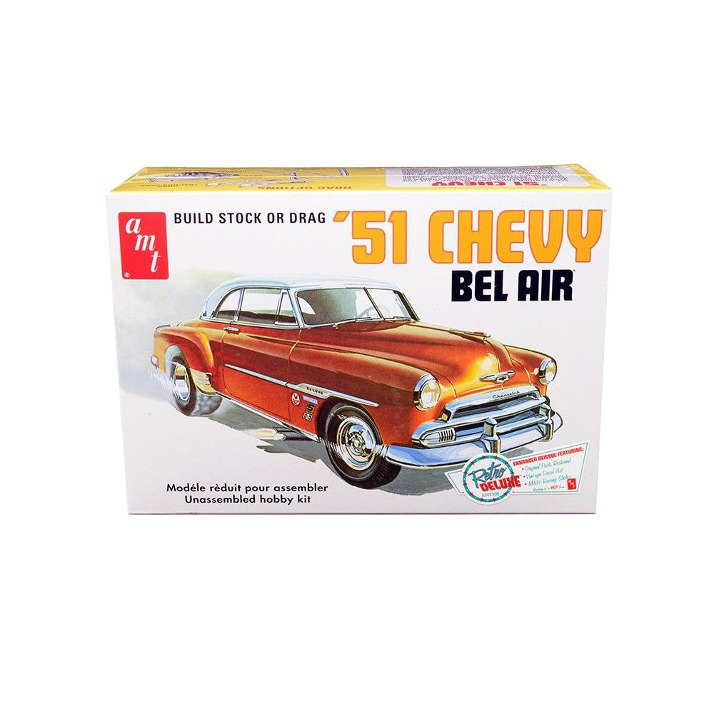 Skill 2 Model Kit 1951 Chevrolet Bel Air 2 In 1 Kit Retro Deluxe
