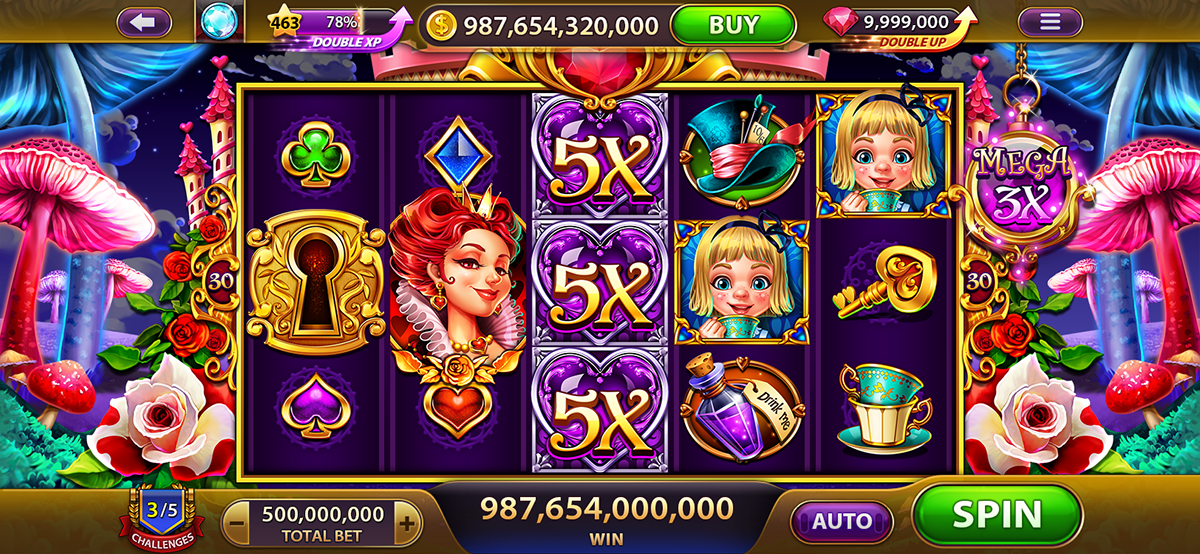 Alice [The Queen of Hearts]Slot Game on Behance in 2020