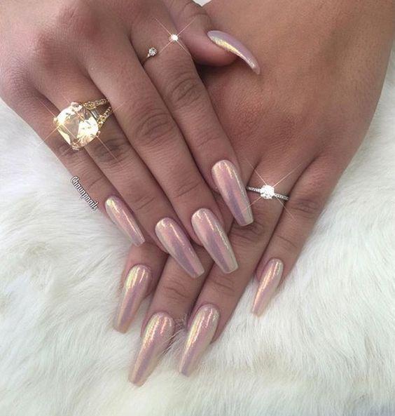 Pinterest: @jalapeño | Nail design | Nails, Chrome nails ...