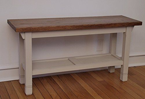 #AmericanCancerSociety Customizable multi purpose bench with a convenient storage shelf below. All wood construction. The top is stained a color of your choice ...