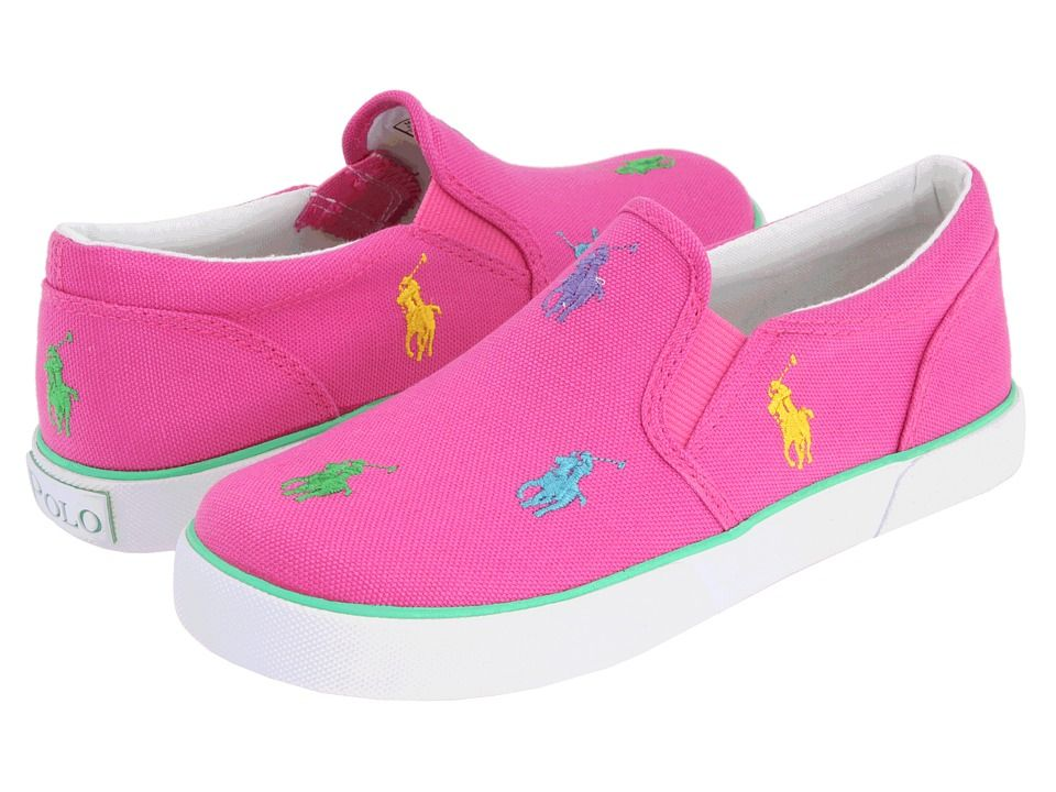 Polo Ralph Lauren Toddler Girls Bal Harbor Repeat Fuchsia Fashion Sneakers Shoes