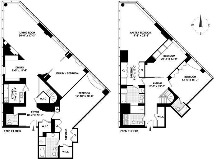 penthouses for sale floor plans Penthouses with Unique Floorplan
