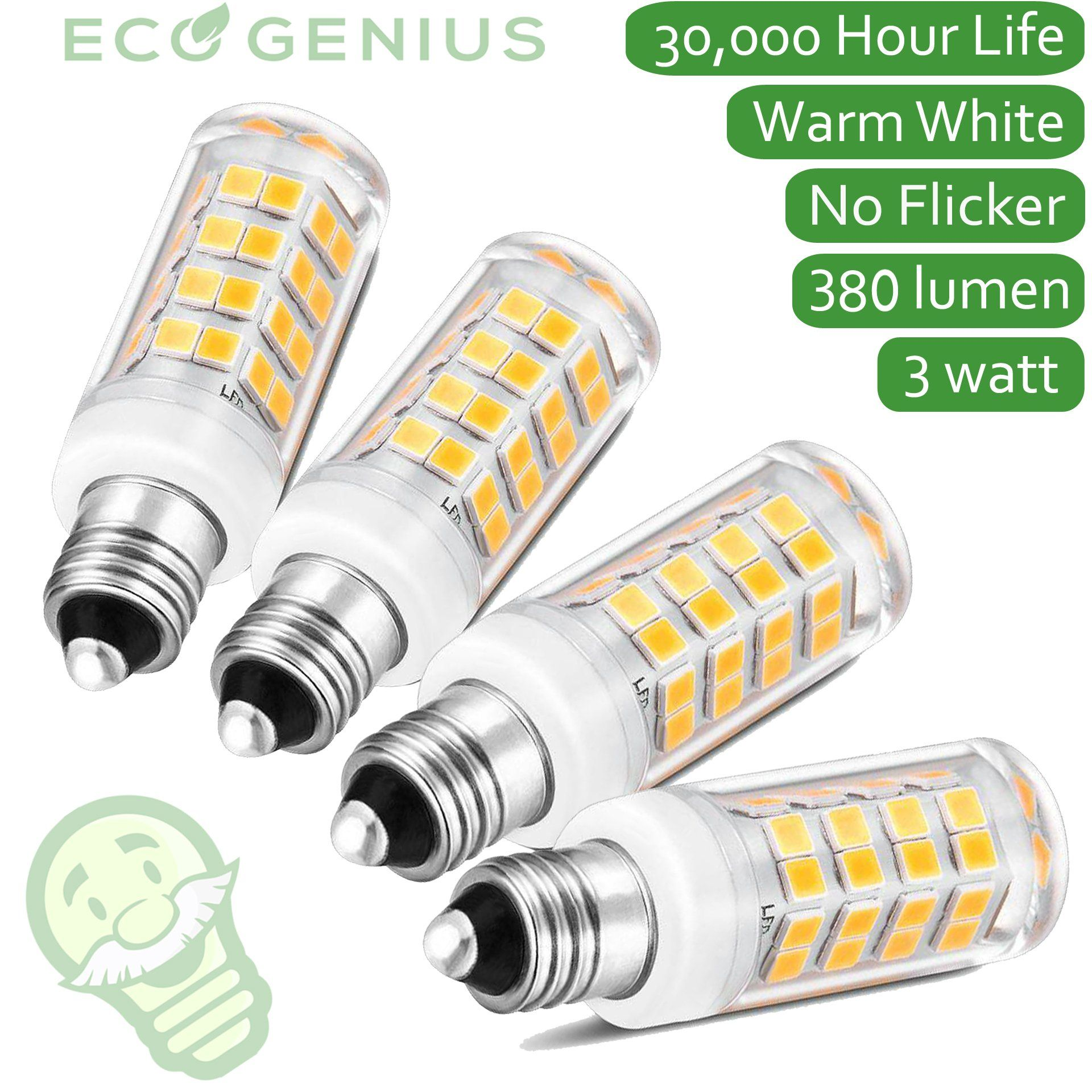 Eco genius e11 base led light bulb 380lm mini candelabra ultra eco genius e11 base led light bulb 380lm mini candelabra ultra energy efficient arubaitofo Gallery