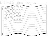flag day w/printables  flag coloring pages american flag