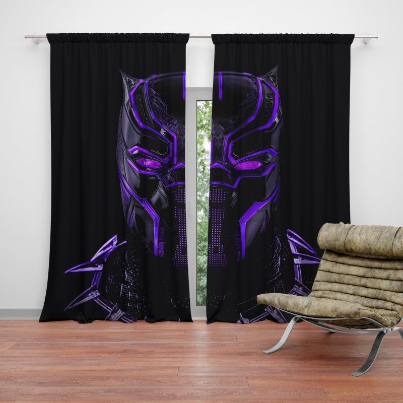 Marvel Black Panther Movie Bedroom Curtain Girl Curtains