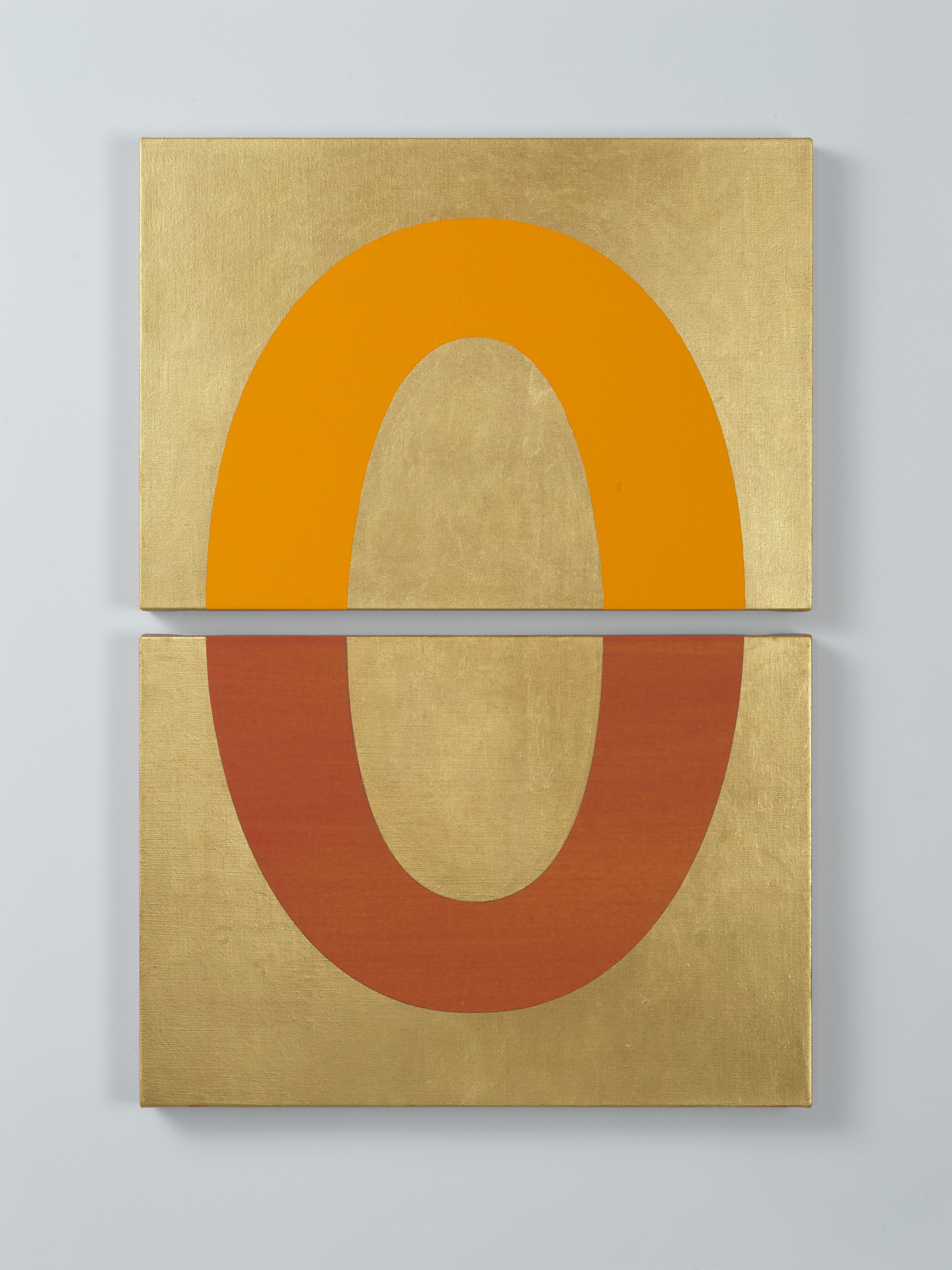 Darren Almond Rise 2019 Gold Acrylic And Graphite On Linen 72 X 50 X 3 Cm Artwork Linen Art