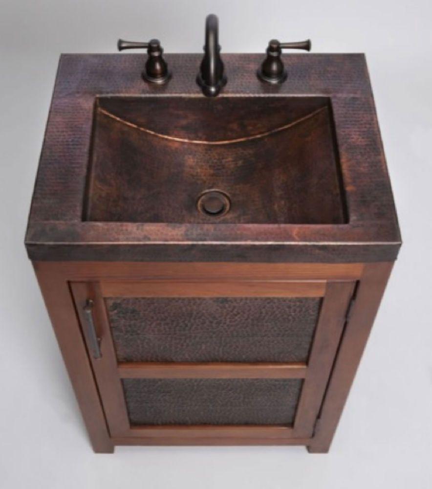 bathroom fans middot rustic pendant. Thompson Traders - VTS Petit Rustic Bathroom Vanity \u0026 Copper Sink Includes Drain Fans Middot Pendant E