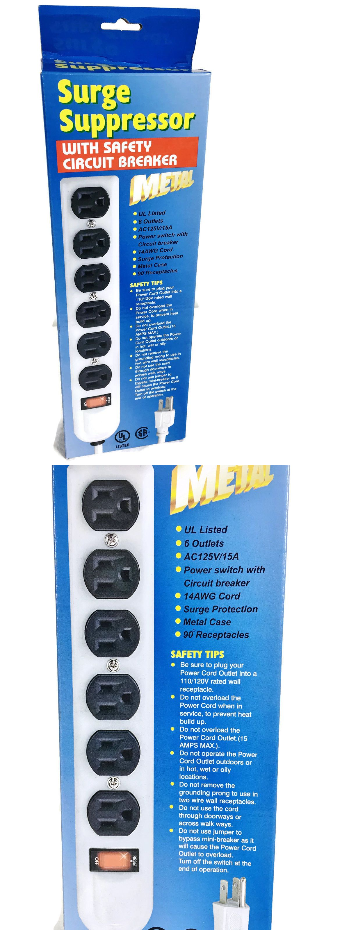 Power Protection Distribution 86722 New In The Box Surge Protector Suppressor 6 Outlets 125v 15a Metal Case B Surge Protector Surge Protection Ebay