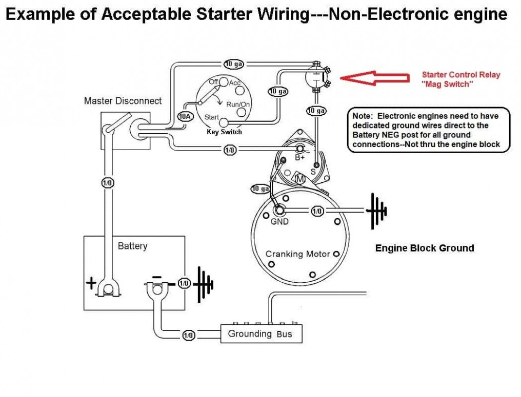 Small Engine Starter Relay Diagram Kapal Mesin