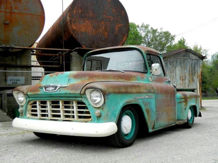 Patina proud 57 chevy trucks, Vintage pickup trucks