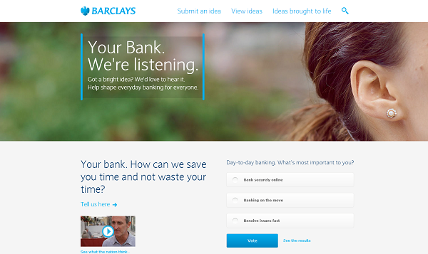 Barclays Taps Crowdsourcing with the 'Your Bank' Ideabank