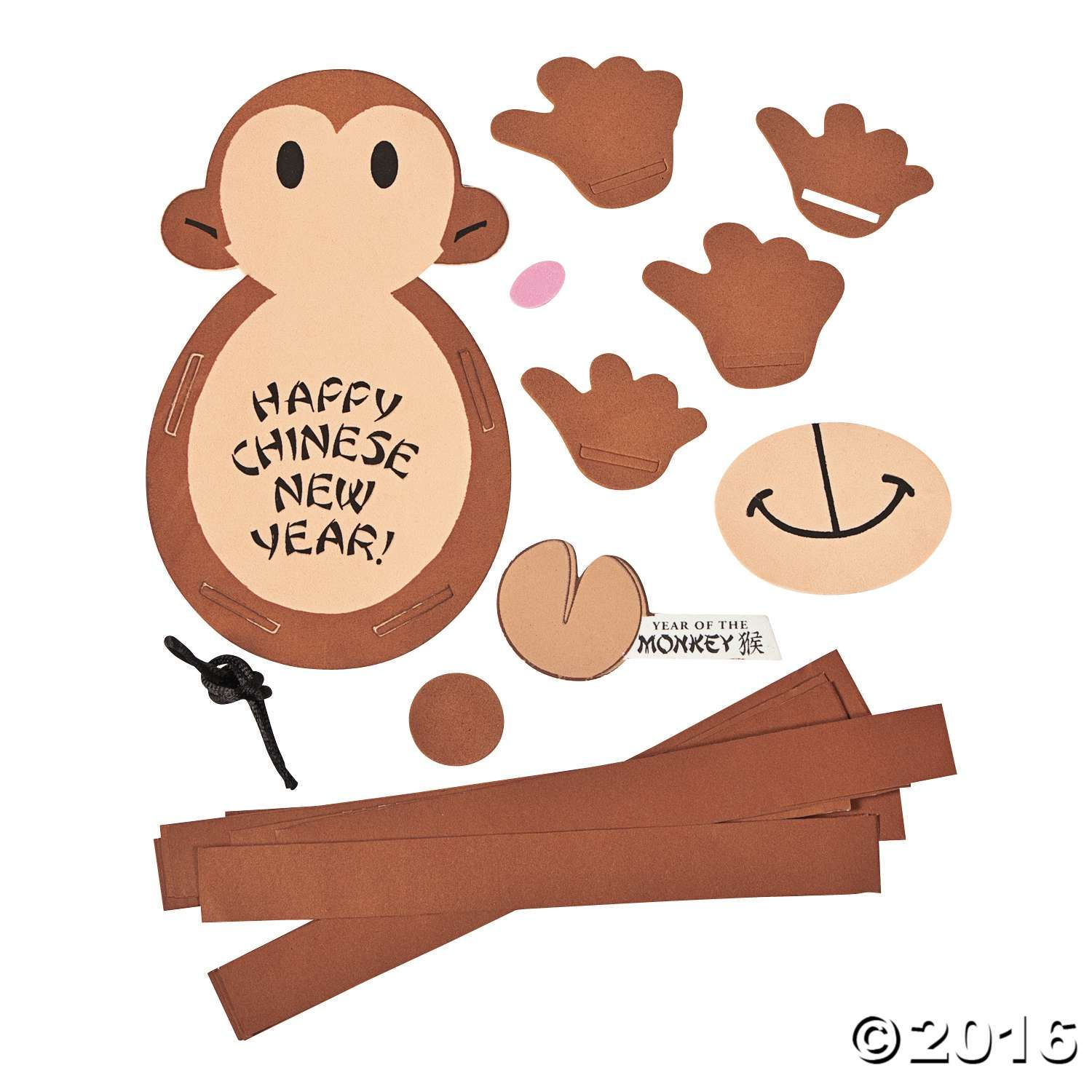 Chinese New Year Paper Chain Monkey Craft Kit Chinese New Year