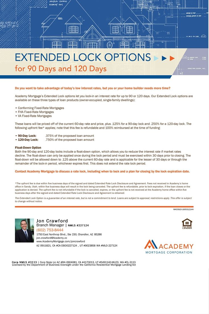 Extended Lock Options Types Of Loans Marketing Flyers Loan Officer