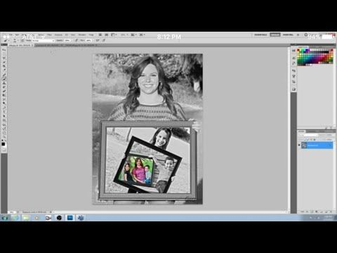 Photoshop For Beginners How To Insert A Picture In A Selected Area Of Your Picture Youtube Photoshop Pictures Portrait