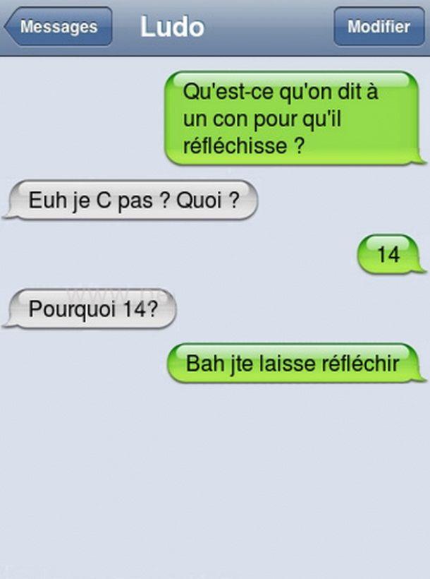 Qu Est Ce Qu Il Dit : Qu'est, Qu'on, Qu'il, Réfléchisse, Funny, Texts,, Humor