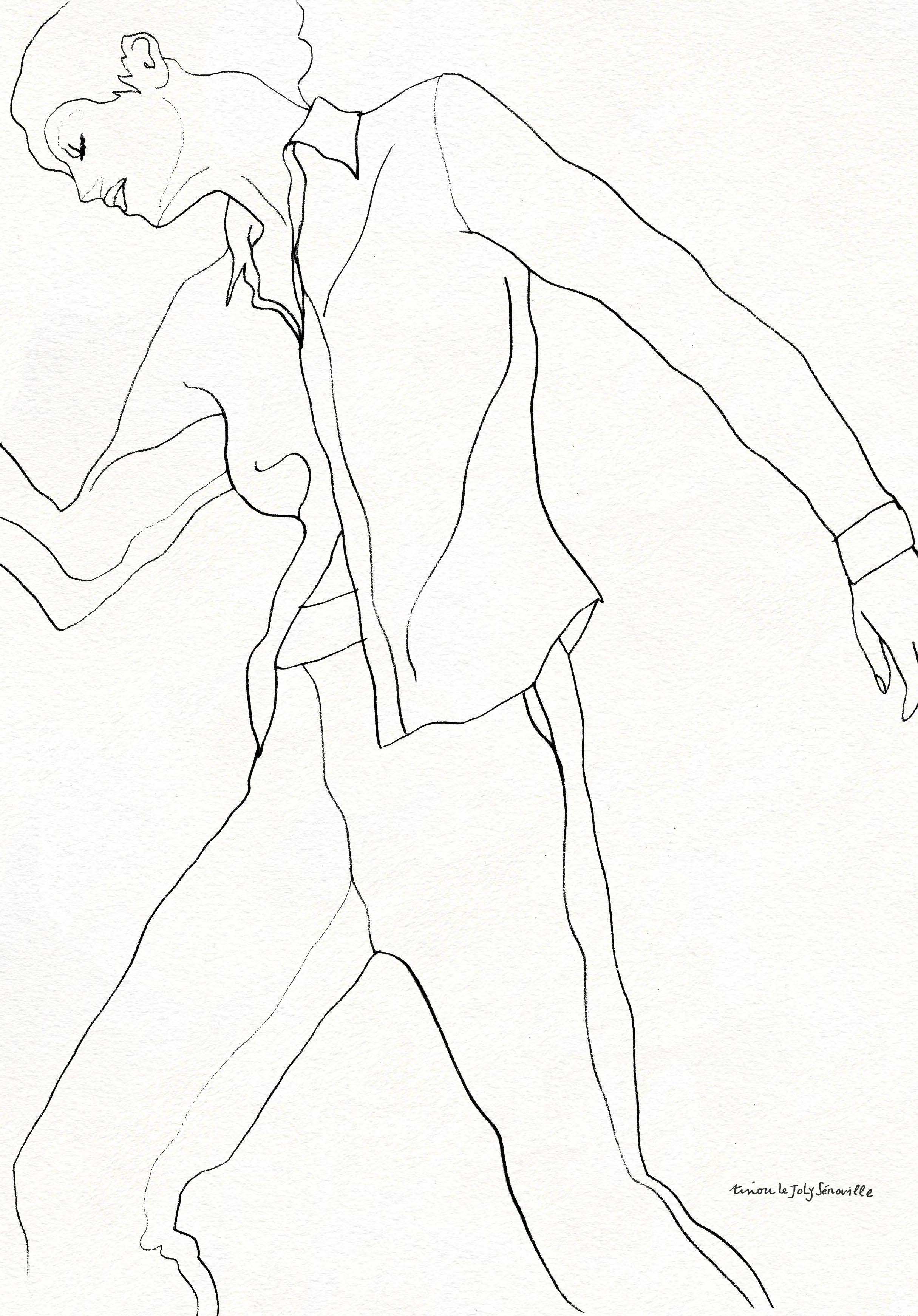 "Drawing tinou Le Joly Sénoville ""Mouvement""  tinoulejolysenoville.com"