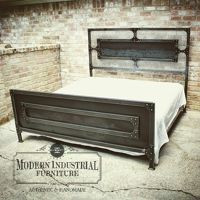 GrandView industrial style bed, king size shown. Also available as ...
