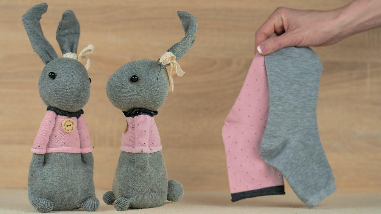 Easy sock bunny doll handmade youtube in 2020 sock