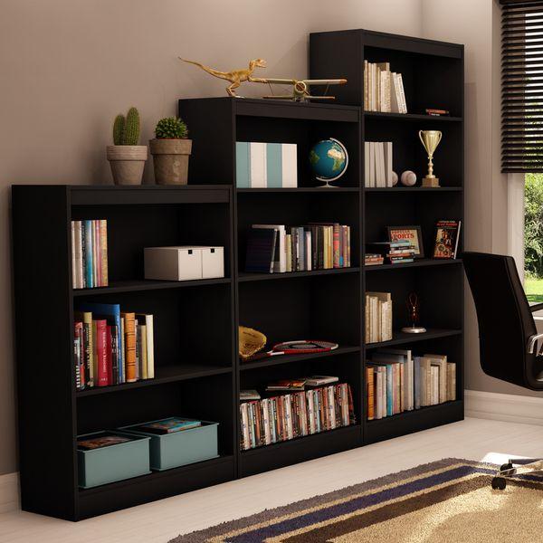 South Shore Pure Black Axess 5 Shelf Bookcase