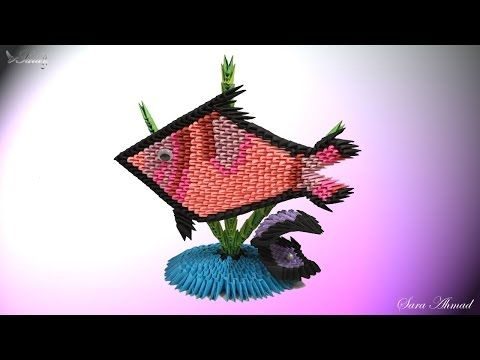 How To Make 3d Origami Fish And Oyster Youtube 3d Origami U Tube