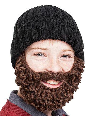 c624bfad9e6 Black   Brown Detachable Burly Beard Beanie - Kids by Beardo  zulilyfinds