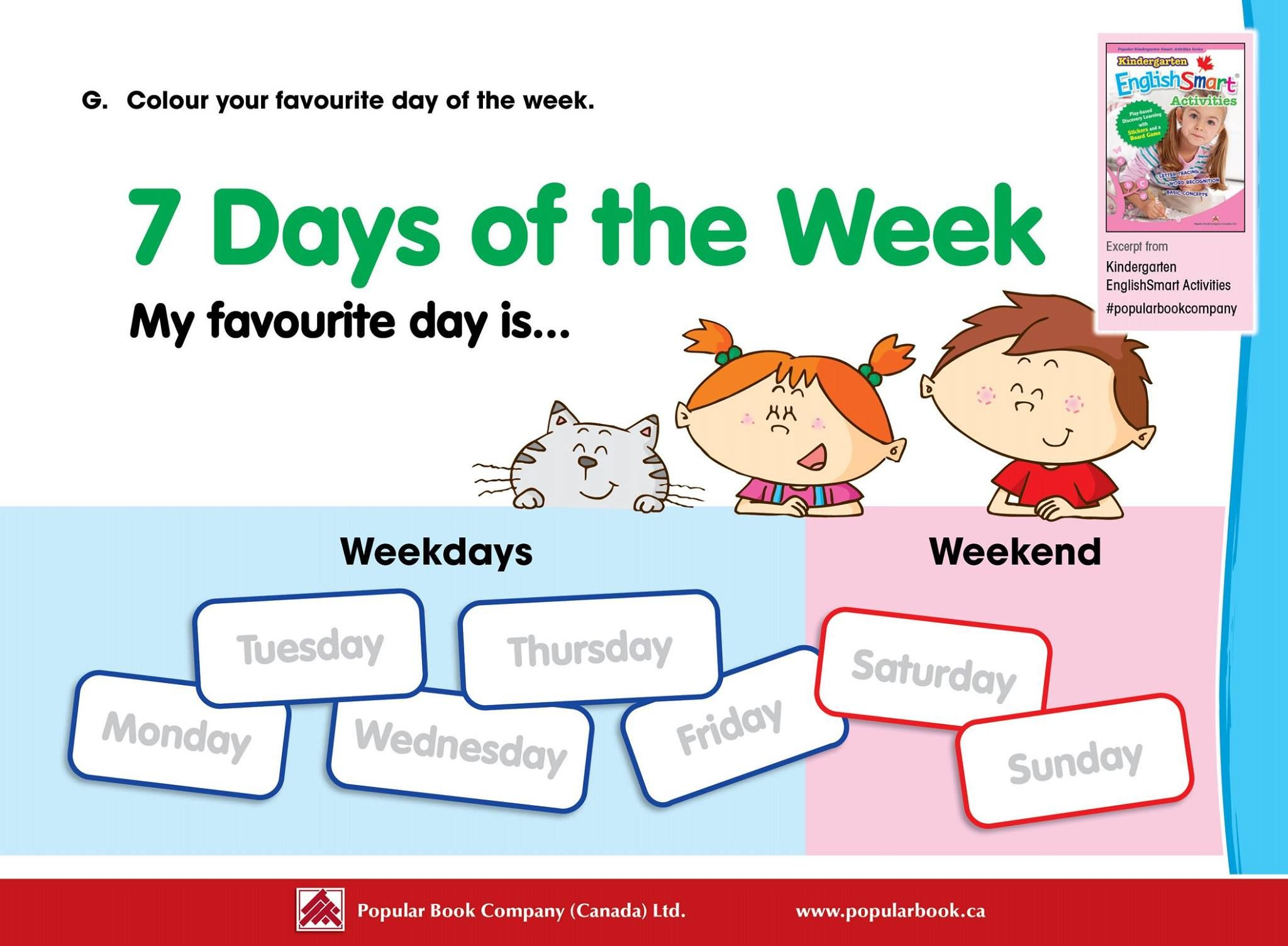 Teaching The Days Of The Week Is Easy With Our